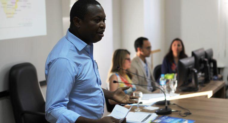 Promotor de justiça de Guiné Bissau Victor Insali compôs a mesa redonda