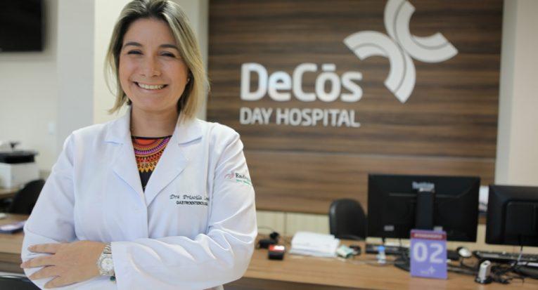 Médica gastroenterologista do DeCós Day Hospital Priscila Lopes