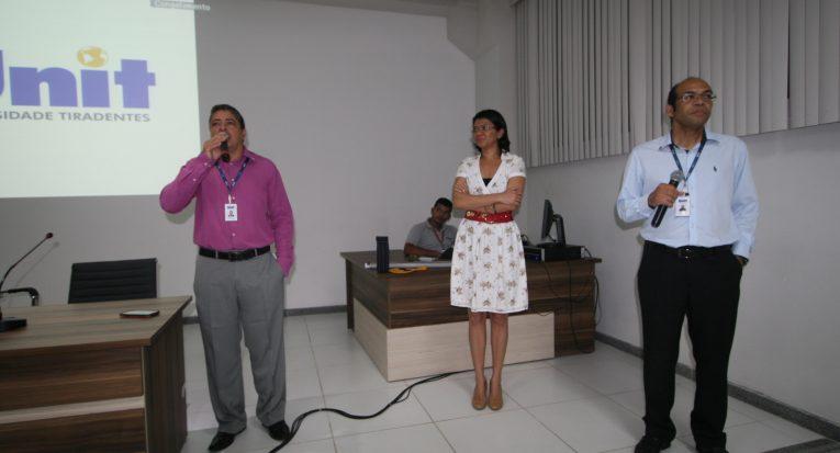 Os professores Laudelino e Walter em companhia de Rosemeire
