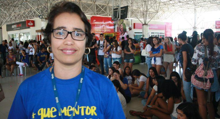 Professora  Janilce à frente do Projeto Mentoria