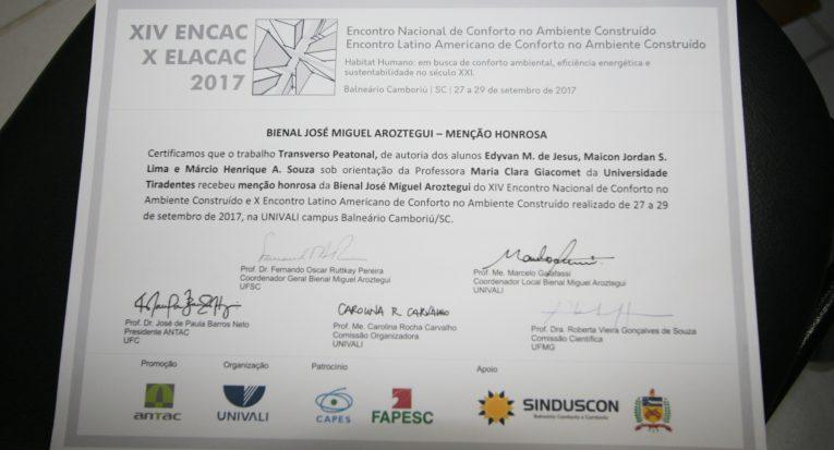 O certificado de reconhecimento