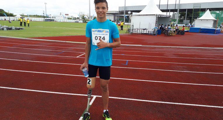 Otávio Santos, de 14 anos, é da delegação do Pará