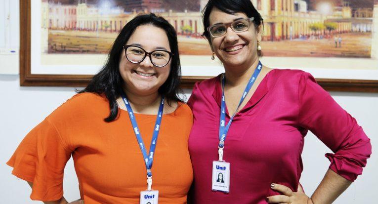 Gerente acadêmica EAD, professora Karen Sasaki e assessora do Enade na Unit EAD, professora Ana Cláudia Mota