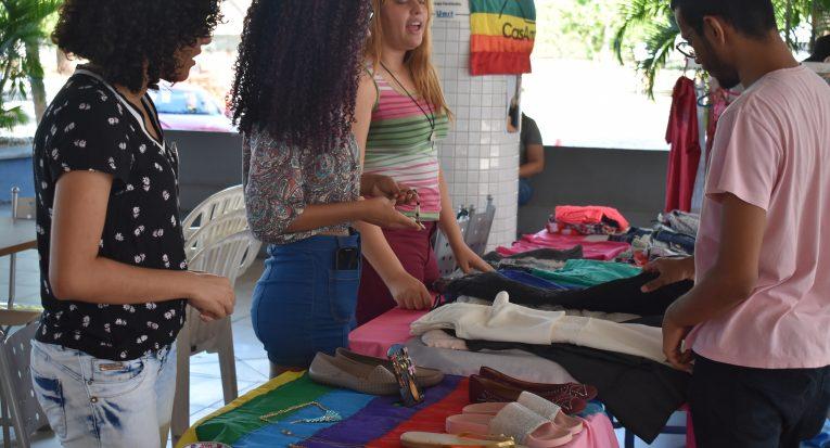 Alunas do curso de Publicidade e Propaganda da Unit, Vitória Coutinho, Michele Ximenes e Mirelle Santos
