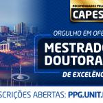 Unit Sergipe lança editais para turmas de Mestrado e Doutorado