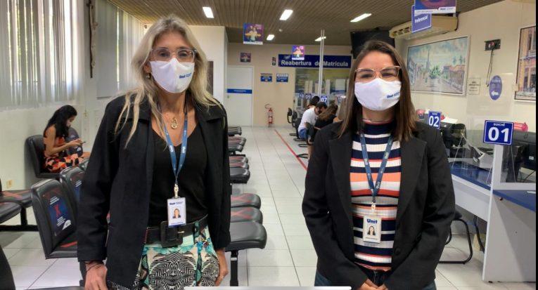 As gerentes Ângela Sanches e Adênia Santos dão o recado